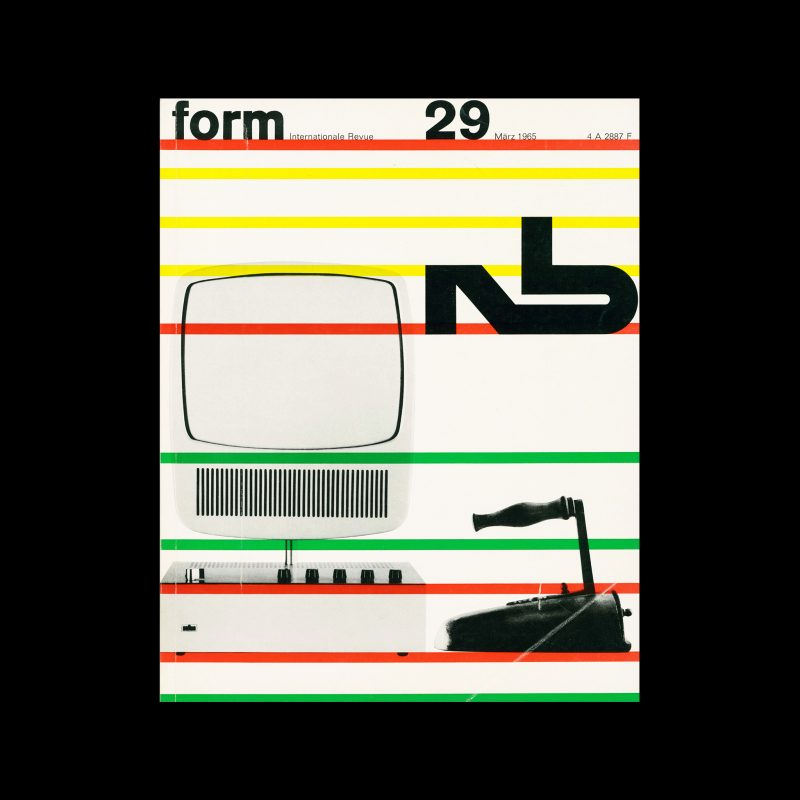 Form, Internationale Revue 29, March 1965. Designed by Karl Oskar Blase