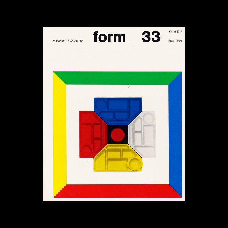 Form, Internationale Revue 33, March 1966. Designed by Karl Oskar Blase
