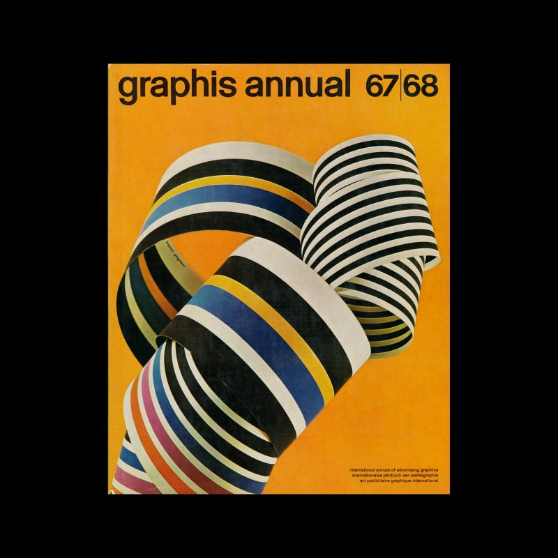 Graphis Annual 1967|68. Cover design by Franco Grignani
