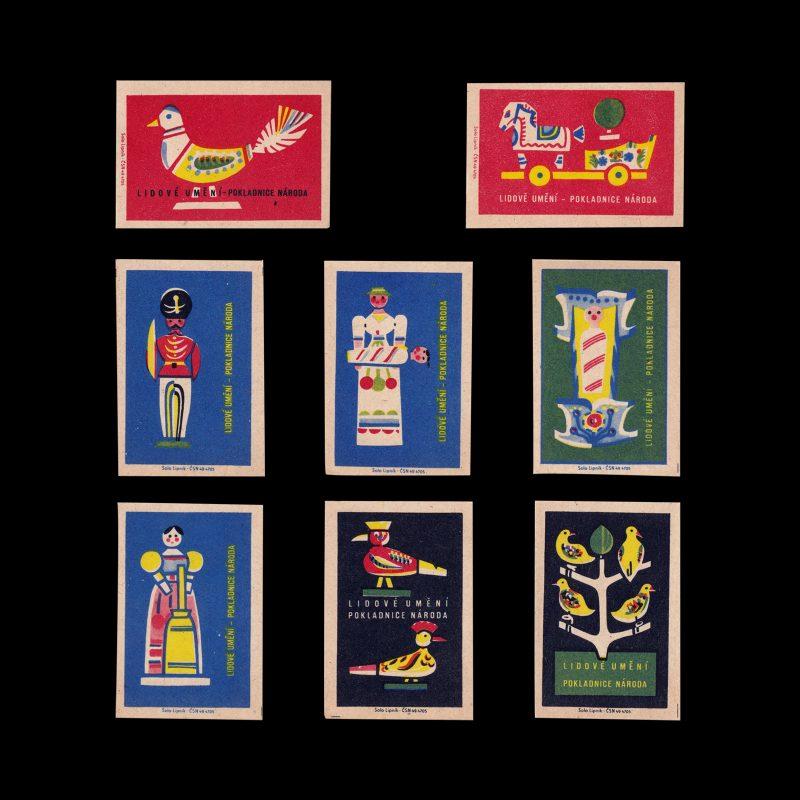 Folk Art, Slovakian Matchbox label set