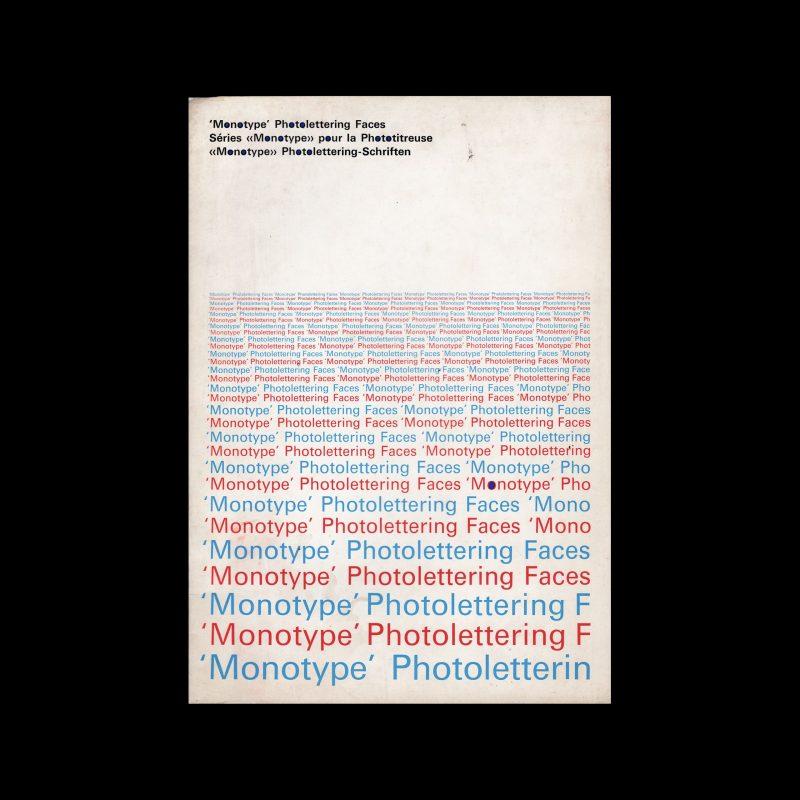 Monotype Photolettering Faces