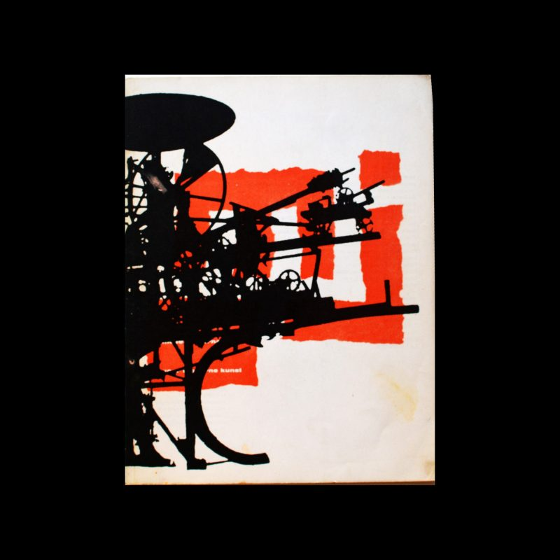 Museumjournaal, Serie 10 no 2-3, 1965. Willem Sandberg (Design) and Jean Tinguely (cover)