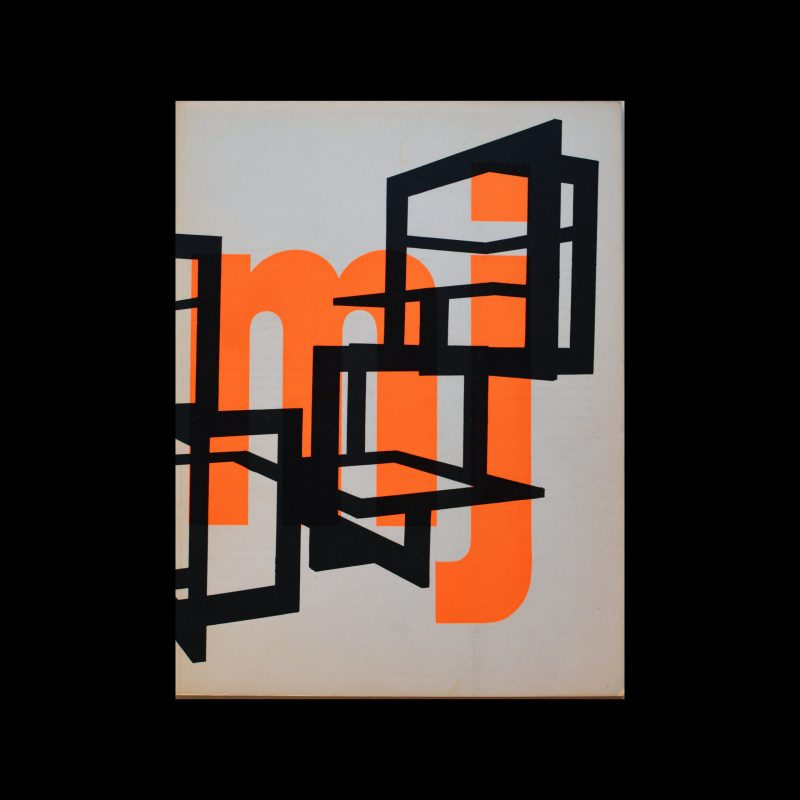 Museumjournaal, Serie 11 no 8, 1966. Designed by Jurriaan Schrofer