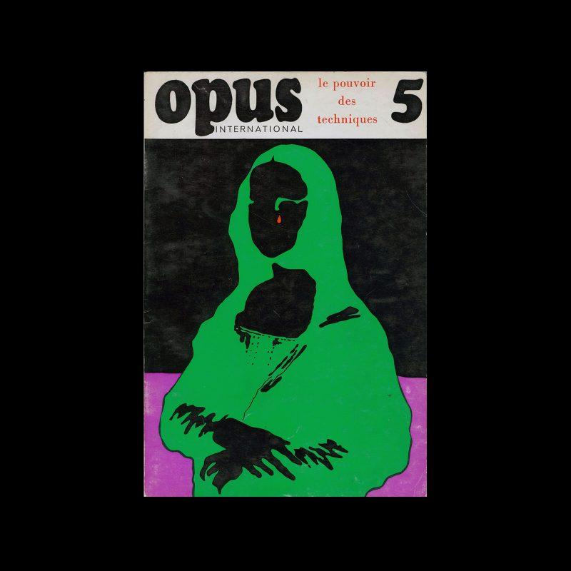 Opus International, 5, 1968. Cover design by Roman Cieslewicz