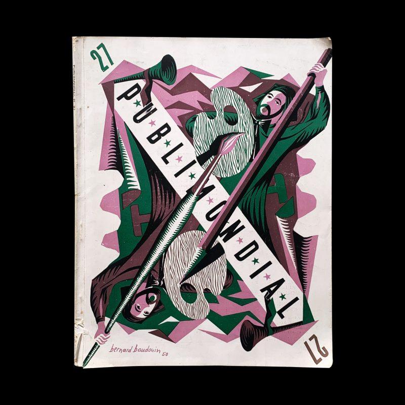 Publimondial N° 27. 1950, cover Design by Bernard Baudouin